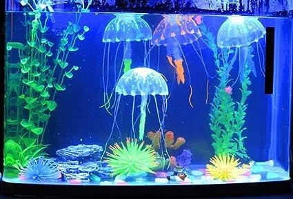 Jooks - Adorno para acuario, diseño de peces artificiales, 5 unidades