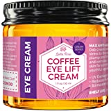 Coffee Eye Lift Cream by Leven Rose 100% Natural, Reduces Puffiness, Brightens Tired Eyes & Dark Circles, Anti Aging…