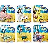 Underwater Wheels Spongebob Character Squarepants 6-Pack Car Bundle + Spongebob Yellow Bubble Van / Patrick Star…