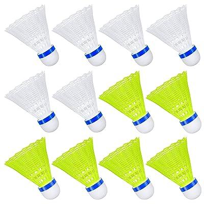 12 Pcs Nylon Badminton Shuttlecocks Plastic Badminton Ball White Spphoneix 502