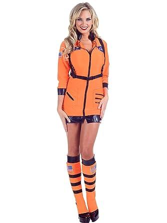 Sexy NASA Astronaut Dress Space Suit Leggings Orange Womens Theatrical Costume Sizes Small  sc 1 st  Amazon.com & Amazon.com: Sexy NASA Astronaut Dress Space Suit Leggings Orange ...