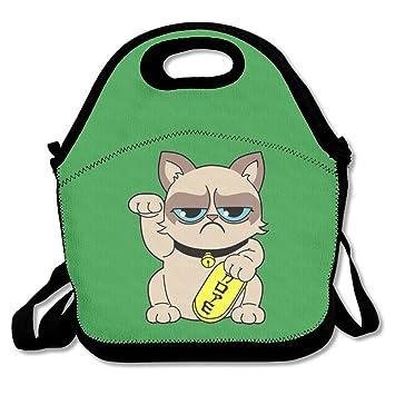 HOT TOPICS Grumpy Cat Lunch Bags Lunch Box Tote Bag With Strap  sc 1 st  Amazon.com & Amazon.com - HOT TOPICS Grumpy Cat Lunch Bags Lunch Box Tote Bag ... Aboutintivar.Com