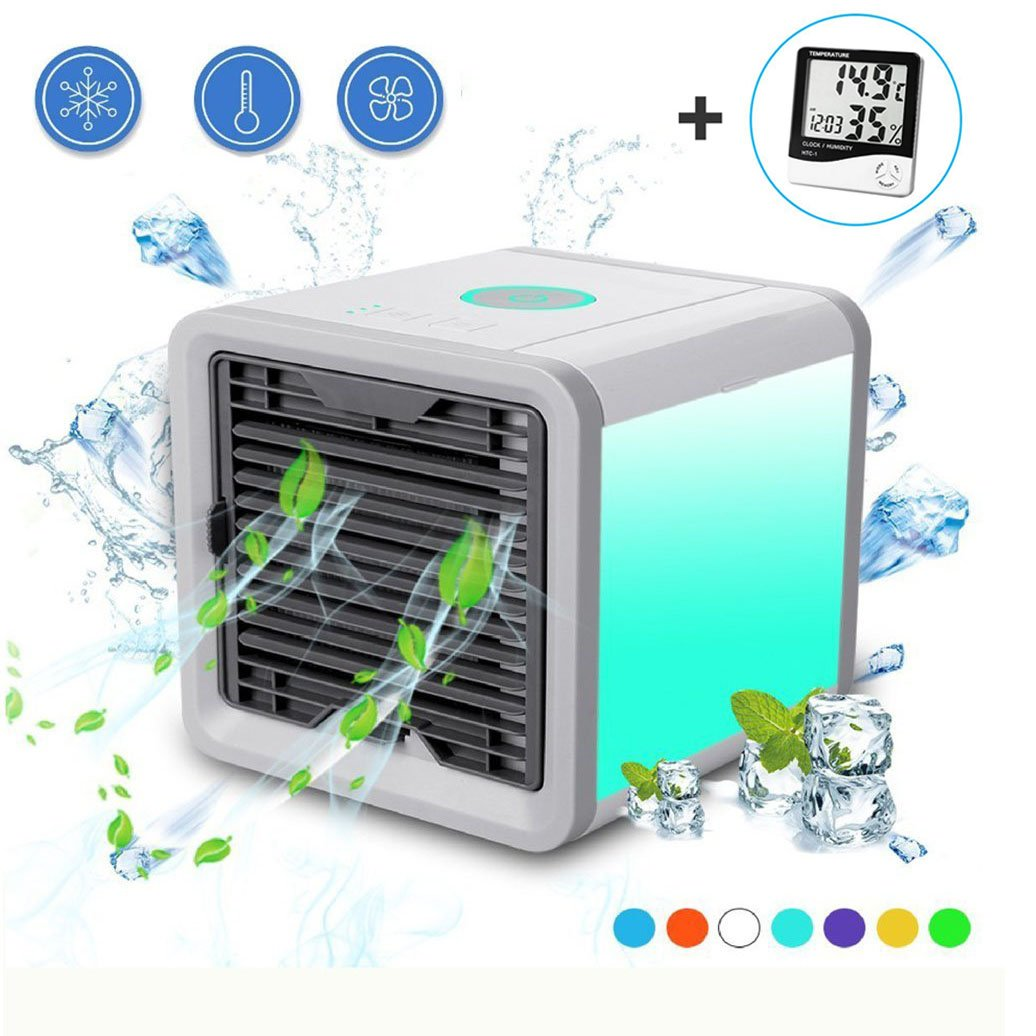 Georsh9 Personal Space Air Conditioner Humidifier and Air Purifier - Portable Space Cooler for 45 Square Feet with 3 Speeds – Fast to Cool and Clean air for Desk Office and Camping As Seen On TV Gerosh9