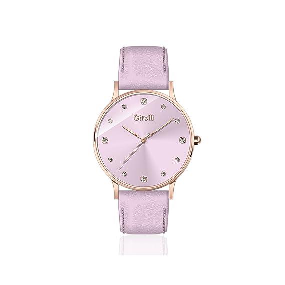 Stroili - Reloj de mujer lila, marca únicamente la hora