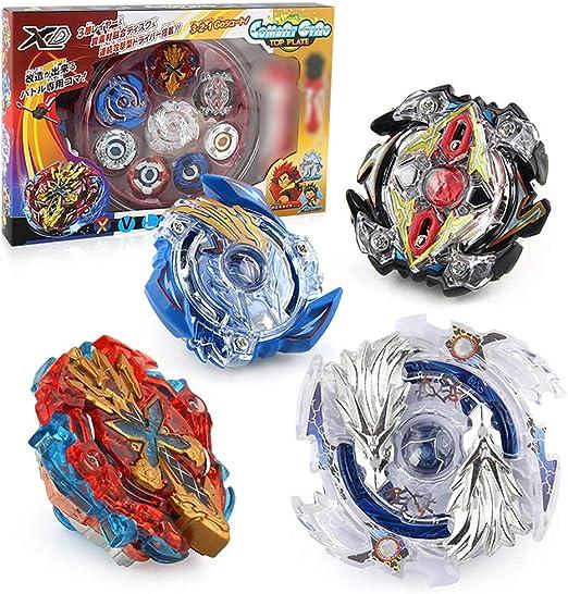 FairOnly 1 Caja Cool Beyblade Burst Gyro Juguetes con Lanzador de ...