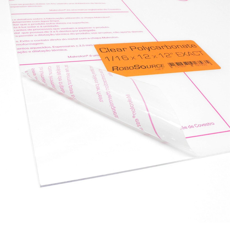 "X 6/"" x 12/""  Palsun Flat Sheet ^ .060/"" Polycarbonate Clear 1//16"