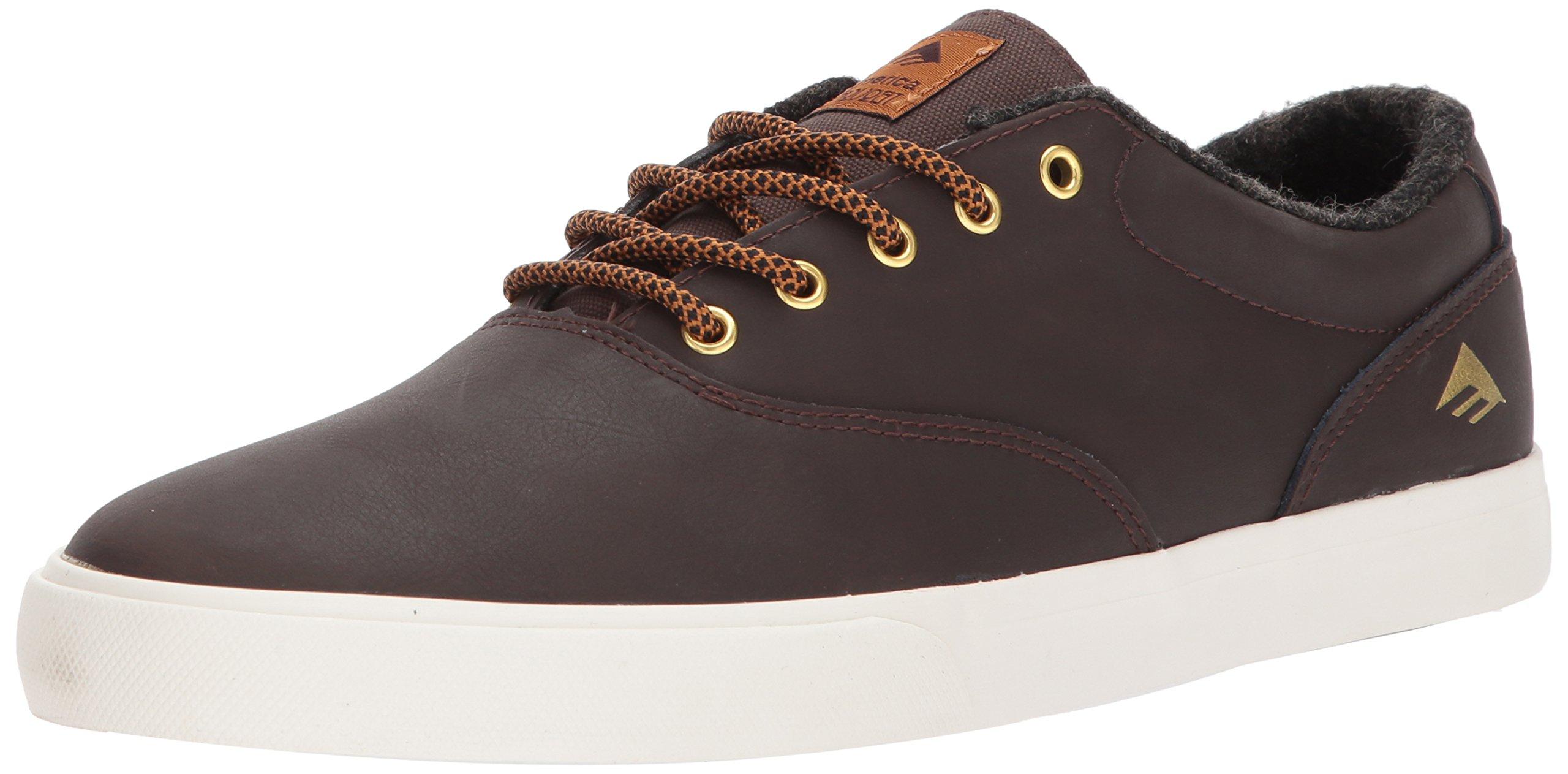 Emerica Provost Slim Vulc Skate Shoe,Brown,10.5