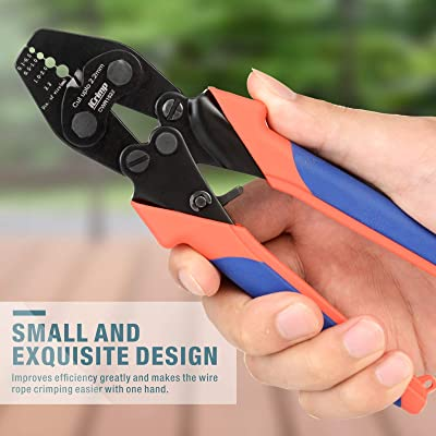 0.1-2.2mm Wire Rope Crimping Tool Stainless Steel with Aluminium Ferrules