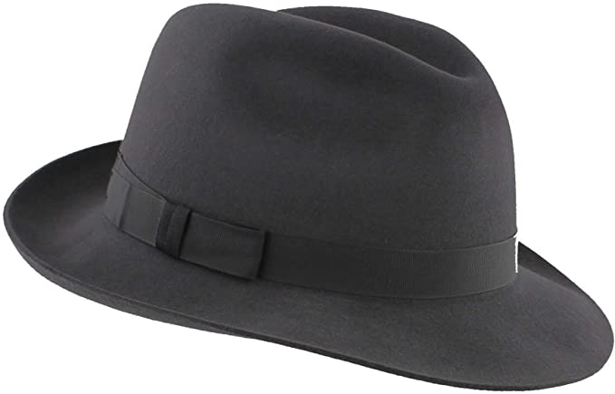 Made in UK 100/% Wool Felt Black Bowler Hat by Christys/' of London