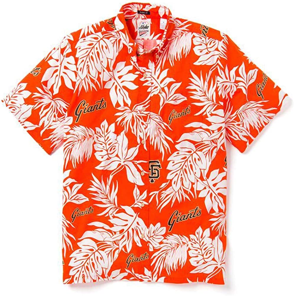 Reyn Spooner Men's San Francisco Giants MLB Classic Fit Hawaiian Shirt