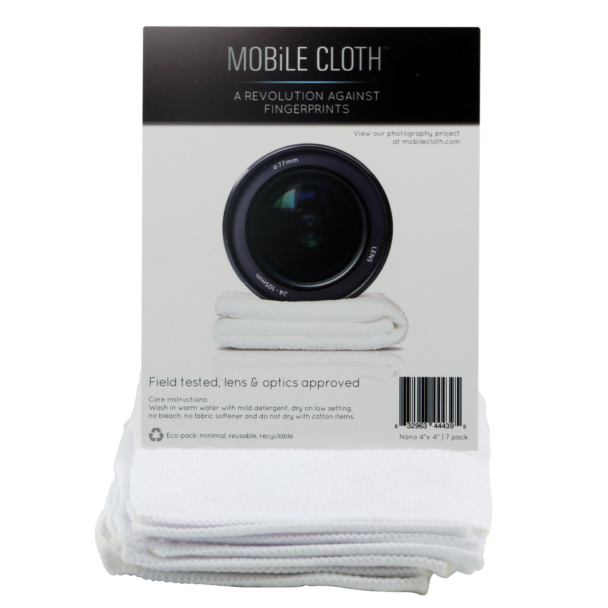 Mobile Cloth NA7LB Nano Lens Cloth - 7 Pack (White) by Mobile Cloth