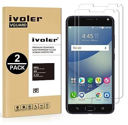 iVoler [2 Unidades] Protector de Pantalla para ASUS Zenfone 4 MAX ZC554KL / ASUS Zenfone 4 MAX Plus ZC554KL / ASUS Zenfone 4 MAX Pro ZC554KL 5.5 ...