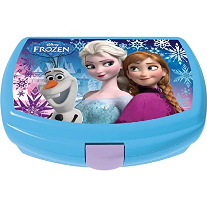 GABBIANO 6110640 Sandwichera de plástico, diseño Frozen