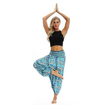 Duntlopy Mujer Deportes Pantalones de Yoga Elefante Impreso ...