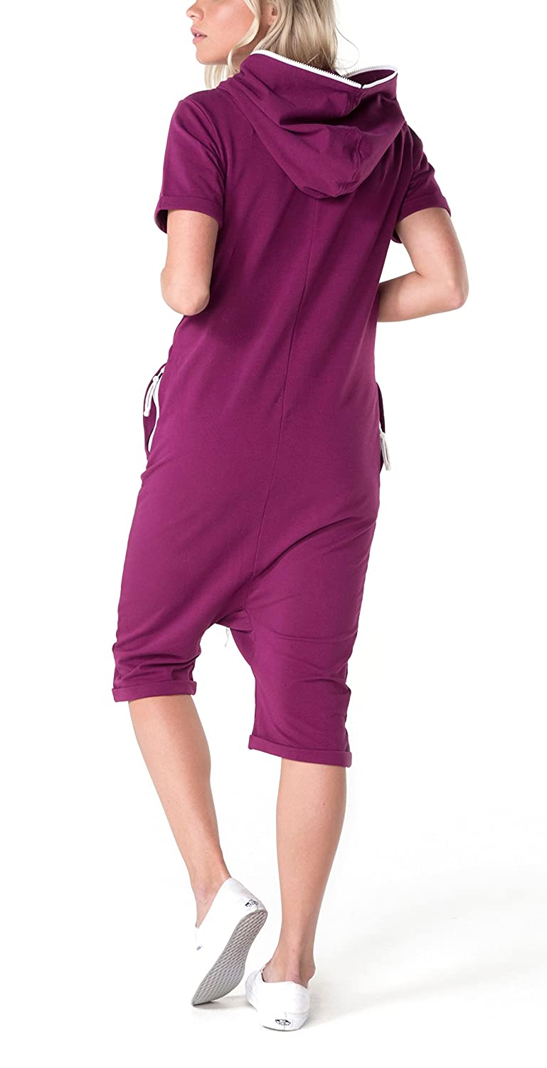 60daa4844875 One Piece Short Break Mono Largo, Morado Burgundy, XL para Mujer ...