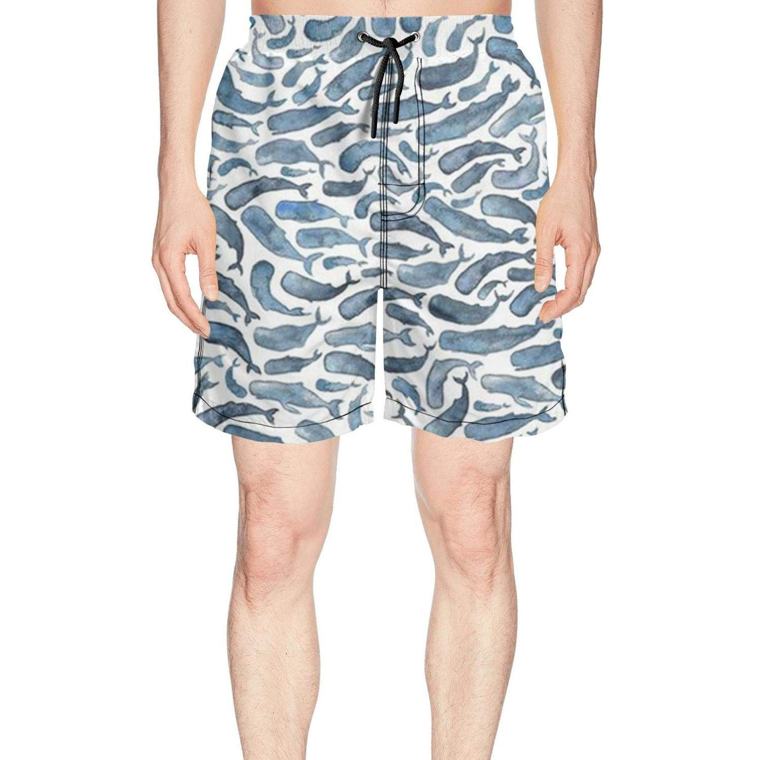 XULANG Mens for The Love of Whale Swim Trunks Jogging Skate Knee Length Boardshorts by XULANG (Image #1)