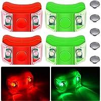 4 Stuks Marine Boot Boog Rode en Groene Led Navigatie Lichten Noodverlichting Backup Lichten voor Boot Ponton Kajak…