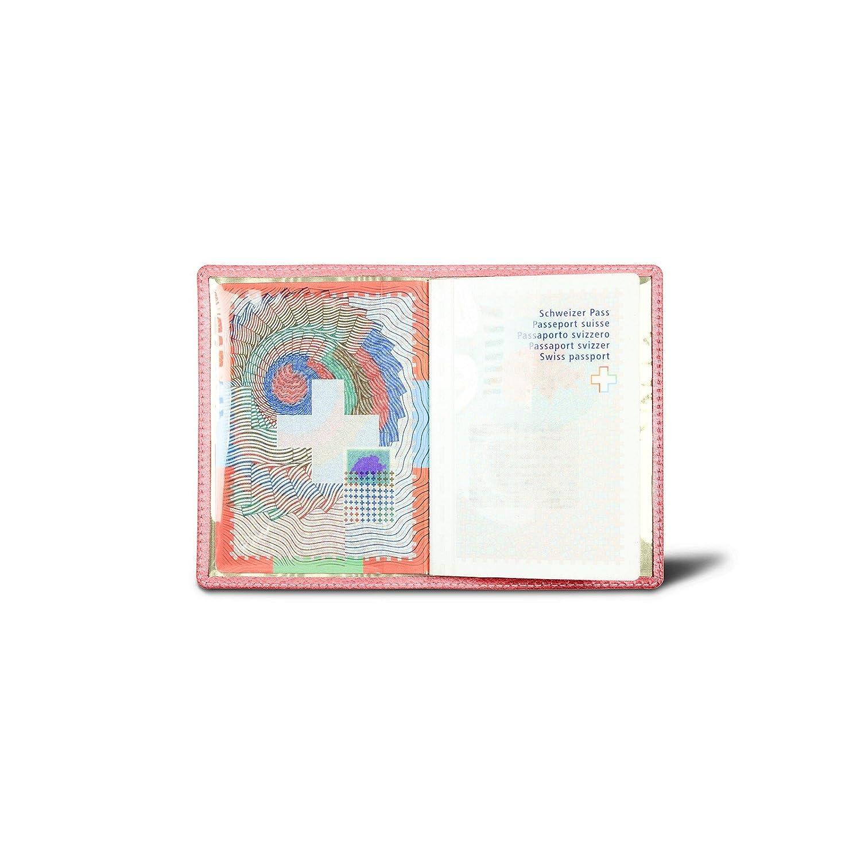 azafr/án amarillo Piel de Cabra Lucrin Funda universal para pasaporte