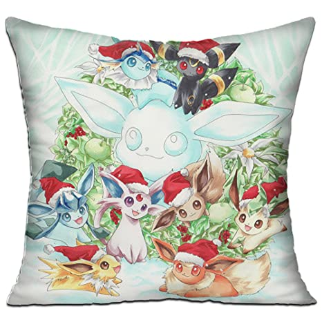 Touch-Pillows Eevee Evolutions Christmas Throw Pillow Pillowcase Cushion 18