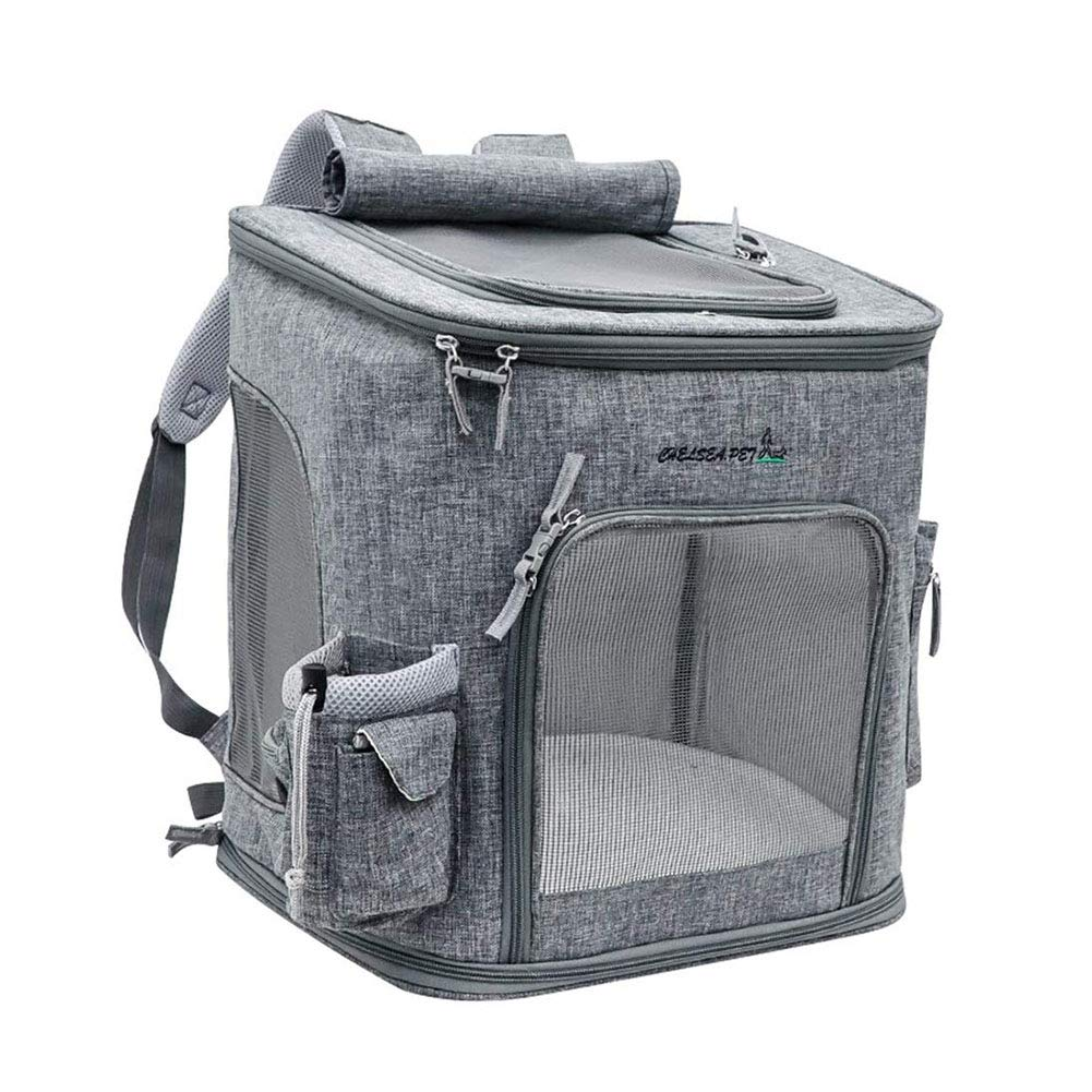 WLDOCA Pet Carrier Travel Backpack for Cat Dog, Outdoor Transport Bag for Small Pets Up to 7 kg Lightweight and Convenient to Keep Your Animal Safe and Comfortable