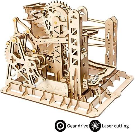 Kits de construcción de modelos mecánicos 3D rompecabezas de madera, madera de elevación de mármol Coaster-kit de construcción con bolas de juguetes regalos para adultos y adolescentes: Amazon.es: Hogar