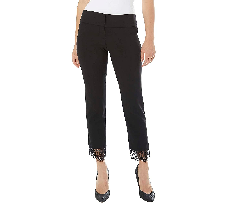 A. Byer Lace Hem Ankle Pants