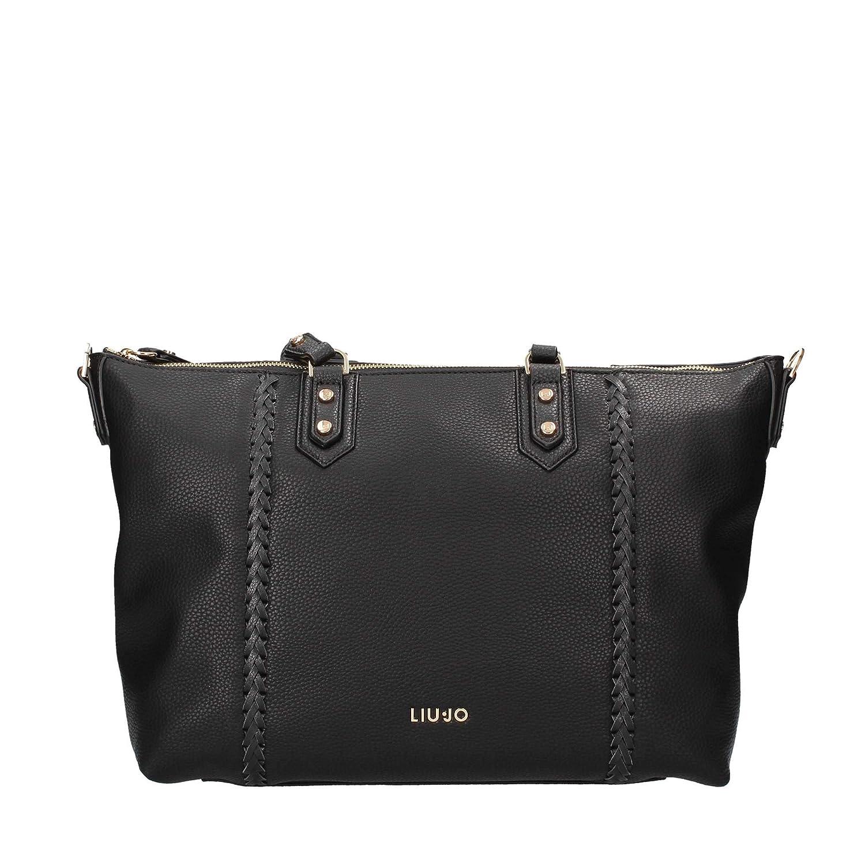 big sale 59139 2b85e Liu Jo N68046E0033 Shopping Woman Black PZ: Amazon.co.uk ...