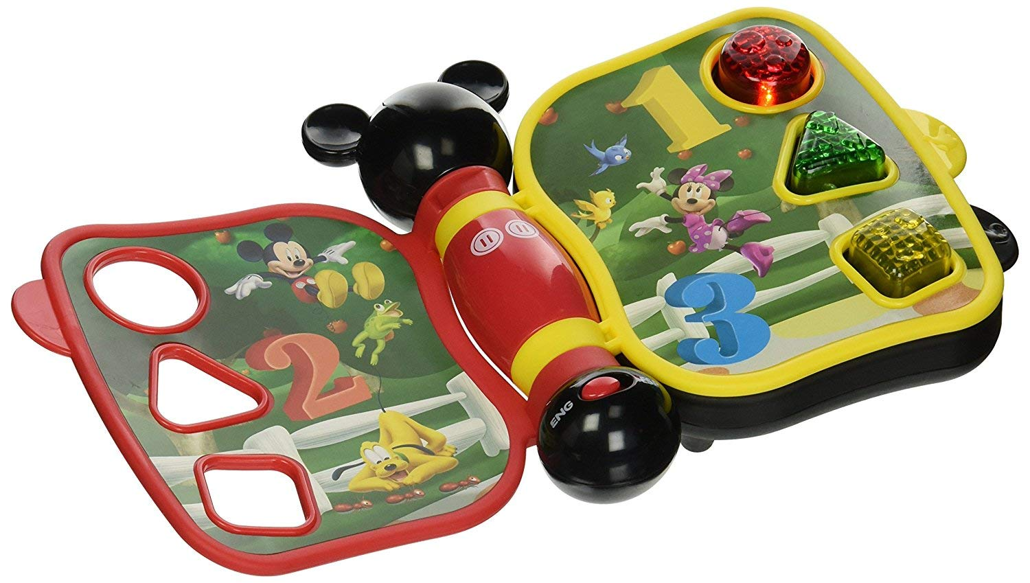 Mickey Mouse Mickey/'s Push and Go Racer Vehicle Bundle Mickeys Push and Go Racer Vehicle Bundle 2 Items Mickeys My First Learning Book Lights and Sounds Mickey/'s My First Learning Book Lights and Sounds 2 Items