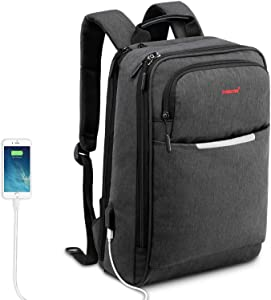 Travel Laptop Backpack, College School Computer Backpack with USB Charging Port Fit Most 15.6 inch Laptop for Men & Women …