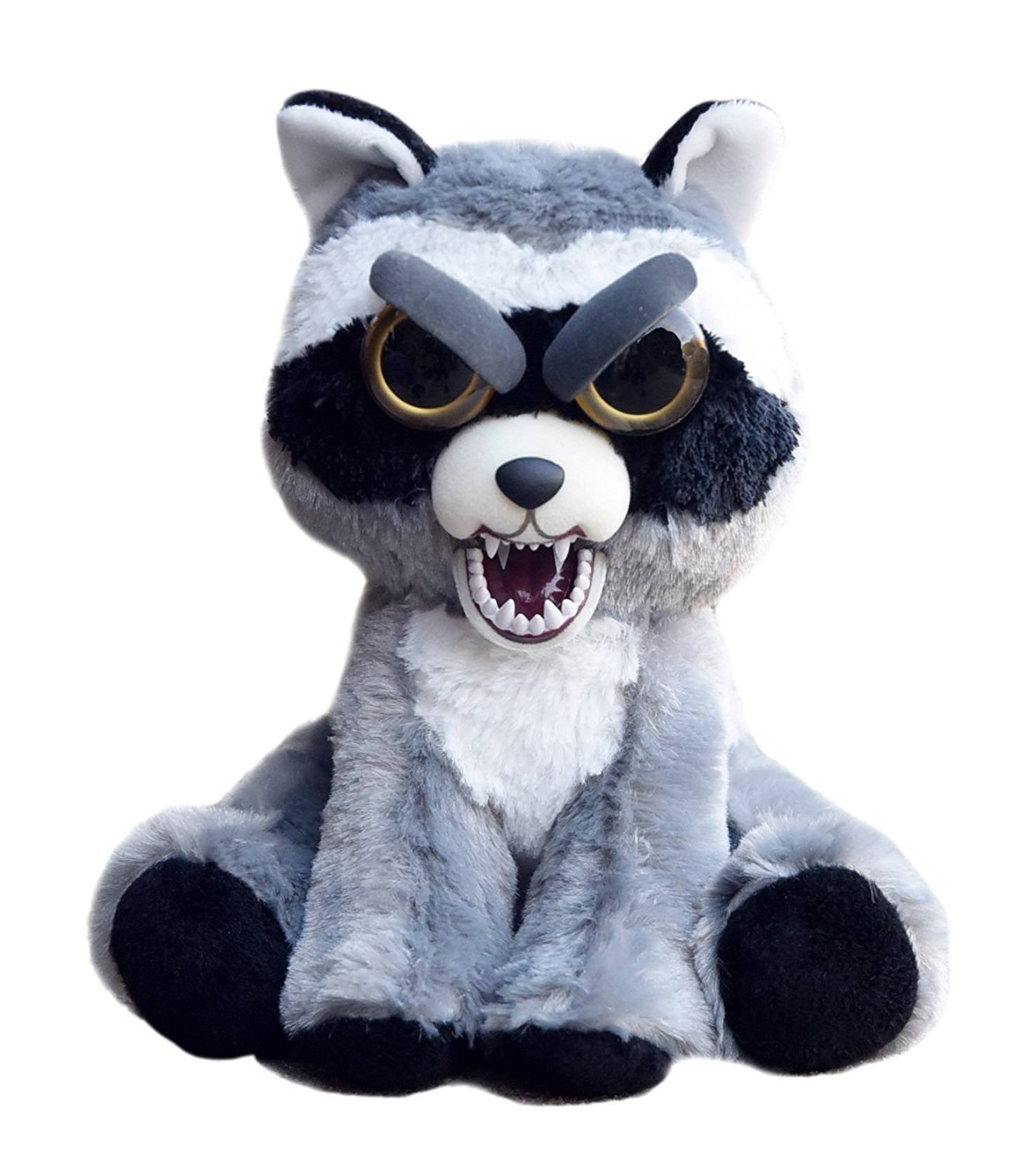 3164e26be0165 Feisty Pets Expressions Sly Sammy Suckerpunch the Dog Grins from Ear to Ear  Peluches (Mapache)  Amazon.es  Juguetes y juegos