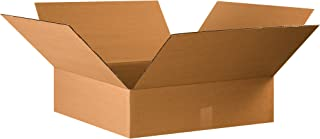 """product image for Partners Brand P22226 Flat Corrugated Boxes, 22""""L x 22""""W x 6""""H, Kraft (Pack of 15)"""