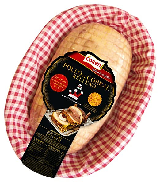 Coren - Pollo de corral relleno de queso de cabra, membrillo y nueces, al