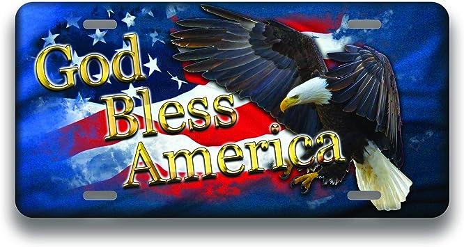 HangTime American Eagle 6 X 12 Metal License Plate