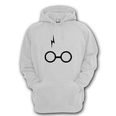 8a9eebab9937 Sweat  agrave  capuche Motif Harry Potter Lunettes et cicatrice - noir -  Taille unique