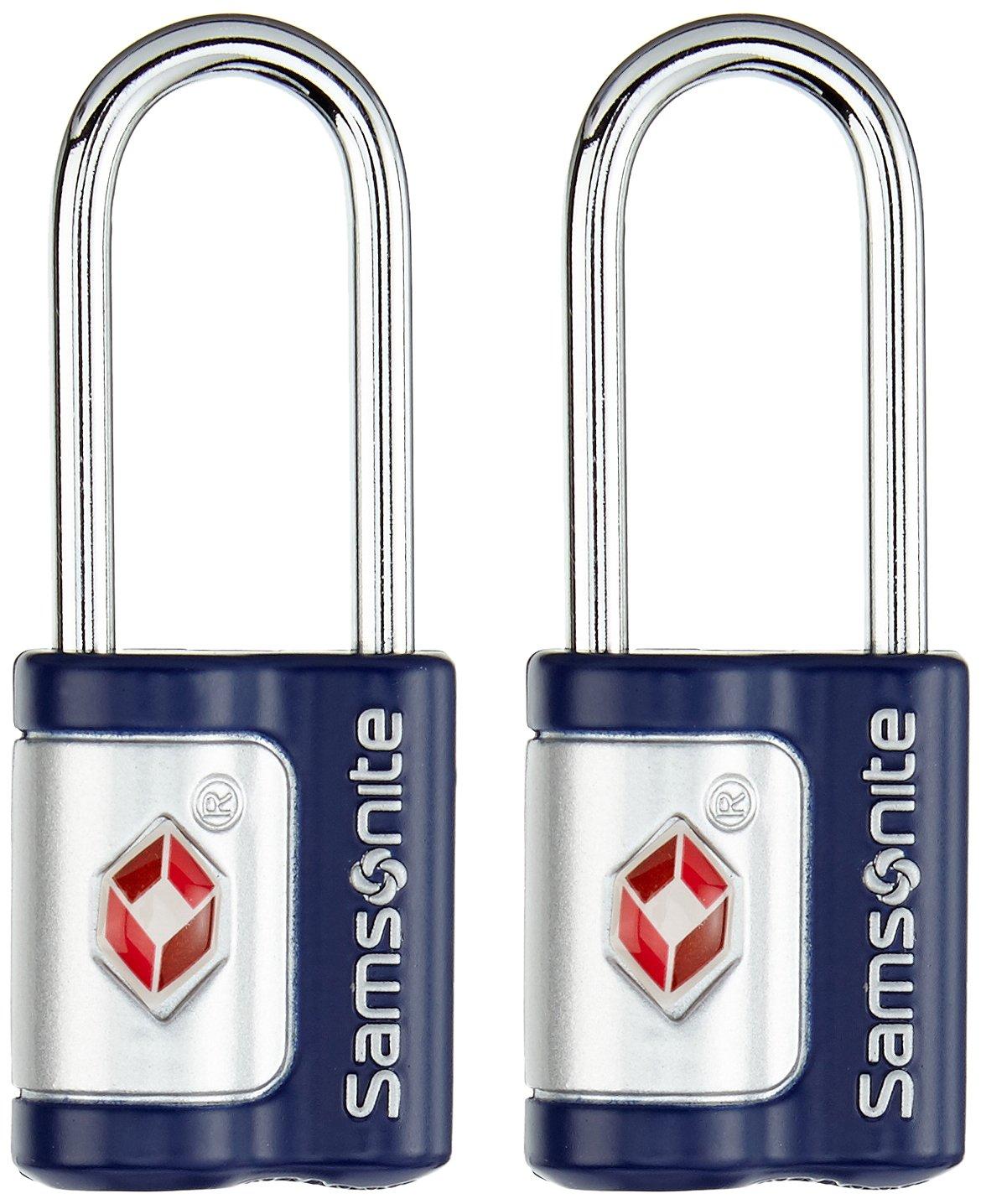 Samsonite 61598//1439 Color Azul Candado de llave Juego de 2