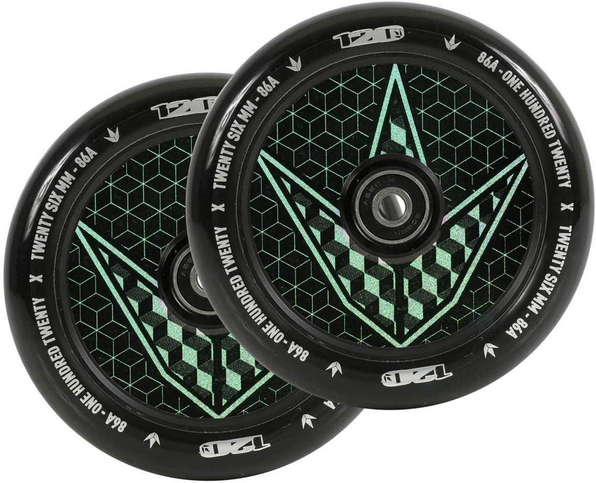 Pair Geo Envy Scooters Hollow Core Wheels 110mm Hologram Geo