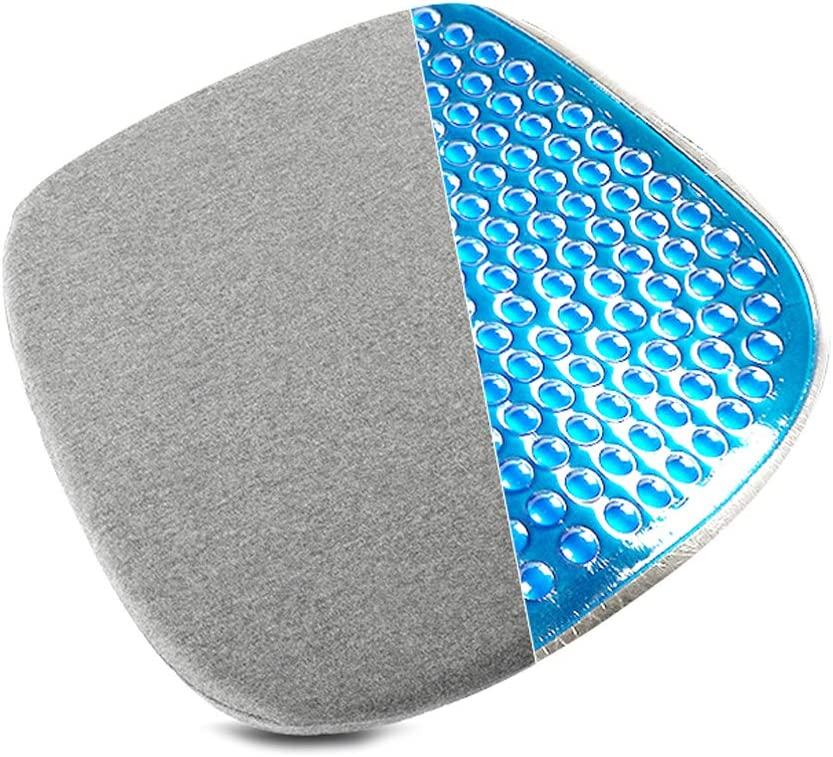 Leowsad Car Seat Cushion Coccyx Orthopedic Gel Memory Foam Seat Cushion Universal seat non slip mat for Adults Driver Home Office Chair Wheelchair