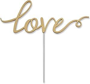 Kate Aspen Love Cake Topper, Wedding Decoration, Food Safe Acrylic