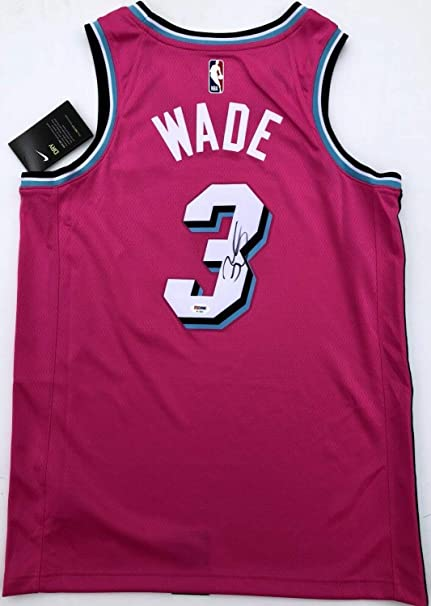low priced f5cbb 90c68 Dwyane Wade #3 Autographed Signed Memorabilia Miami Heat ...