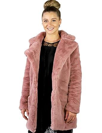 Mantel 43318a Rose Damen Gr Sublevel Kunstfelljacke Winter FcTlKJ1