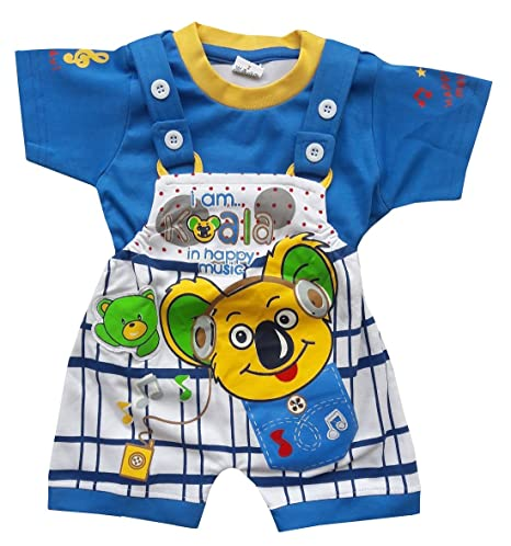 57e014e99 BabyMart Baby Boys Baby Girls Part Wear Casual Wear Hight Quality Printed  Summer Wear Cotton Dngaree