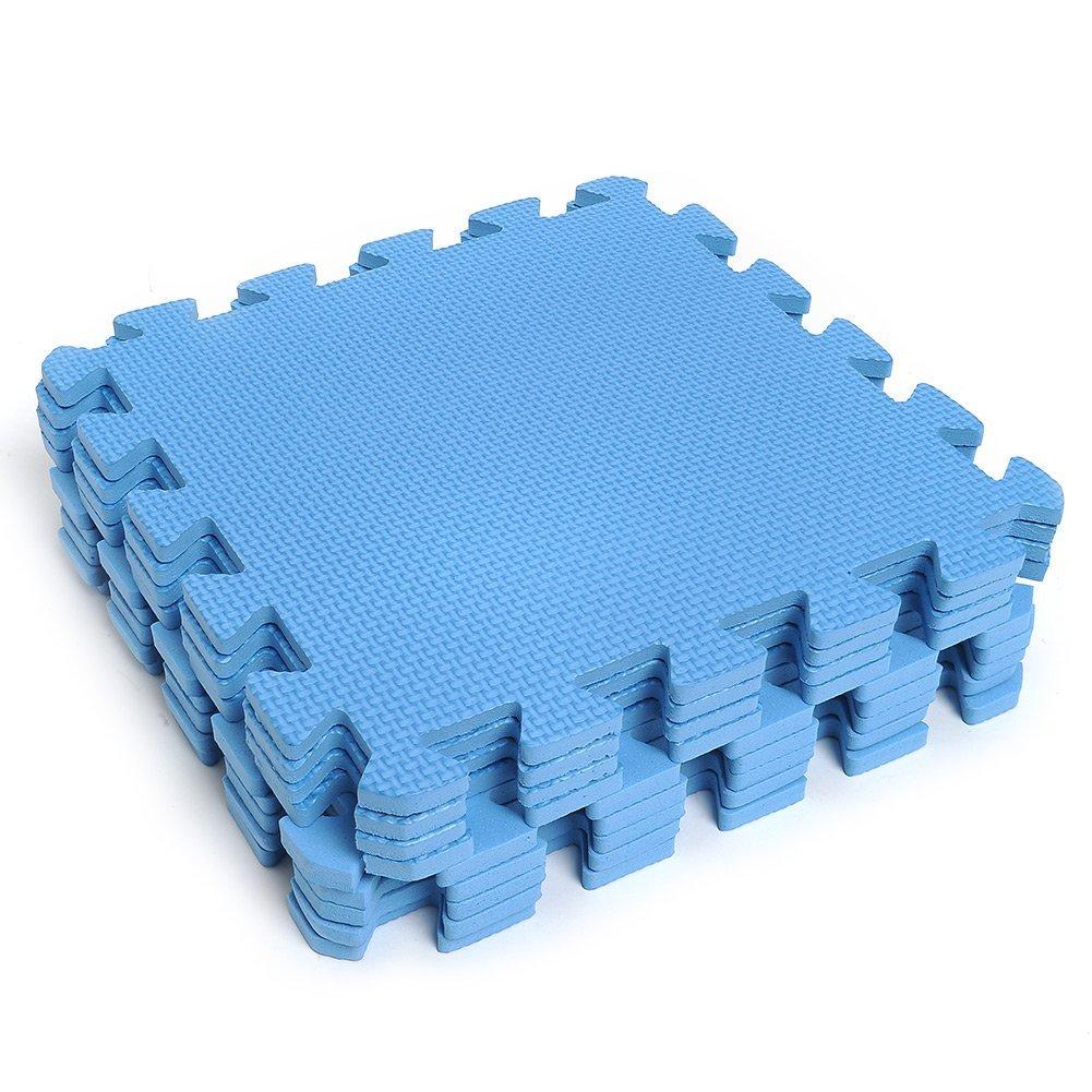 Kicode 9 PCS Puzzle Colchoneta de ejercicio de juegos para niños Con la alta calidad de la espuma de EVA que entrelaza Azulejos (Azul): Amazon.es: Juguetes ...