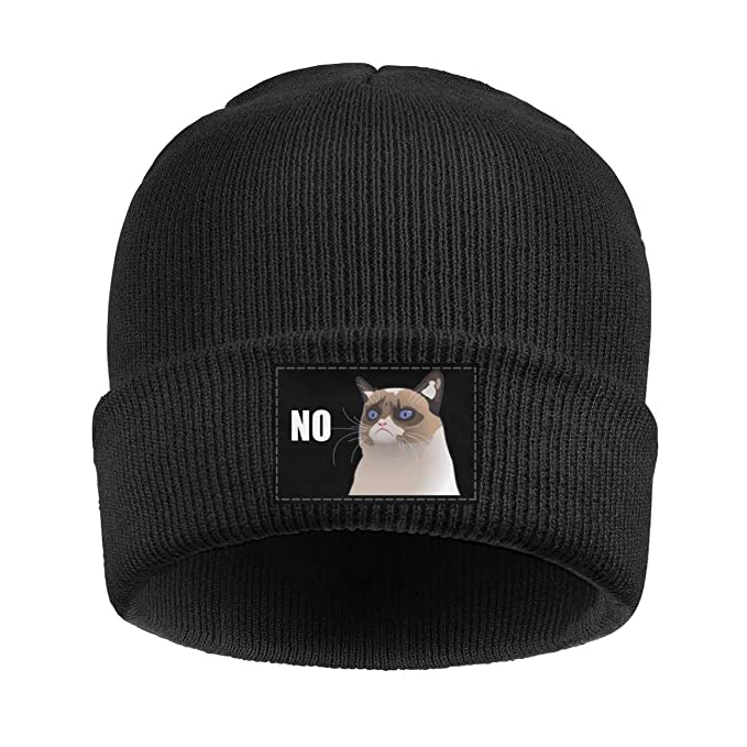 Amazon.com  Beanie for Women Men Unisex Funny Grumpy cat no Warm Winter  Knit Beanies Hats  Clothing dd879ad780