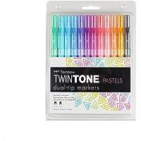 Tombow TWIN TONE Dual-Tip G.Kalem Seti Pastels(Pastel Renkler) 12 renk