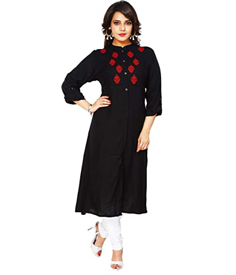 Stand Collar Designs For Kurti : Aarti designs sleeves with stand collar straight fit long
