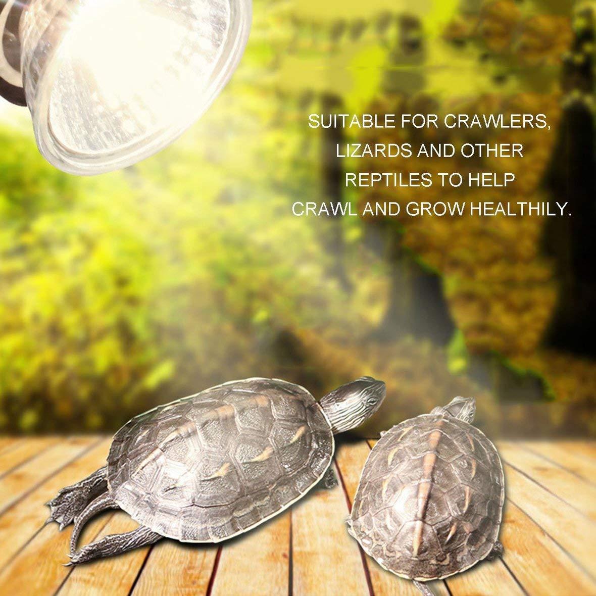 Tivolii Reptile Pet Sun Lamp Reptile Basking Spot Climb Pet Lamp Full Spectrum UVA UVB Turtle Tuff Splashproof Halogen Lamp Tortoise Heating Sun Lamp