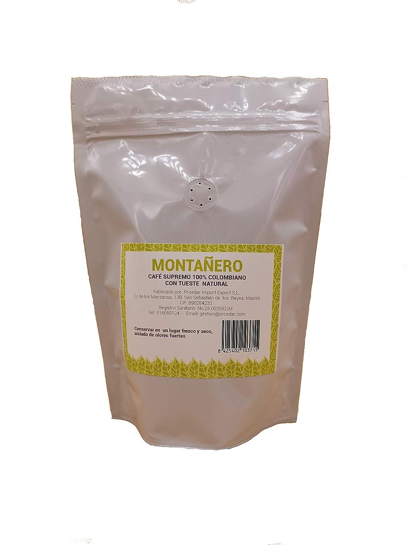 Café Monañero 250 gramos molido, tueste natural, calidad superior y denominación de origen protegida café de Colombia: Amazon.es: Alimentación y bebidas