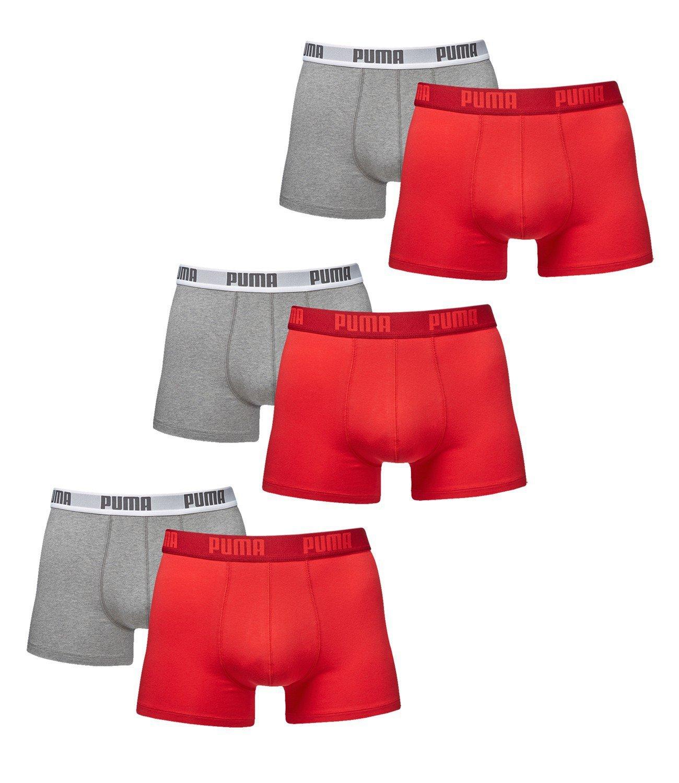 6 er Pack Puma Boxer Boxershorts Men Pant Underwear Red Grey size M