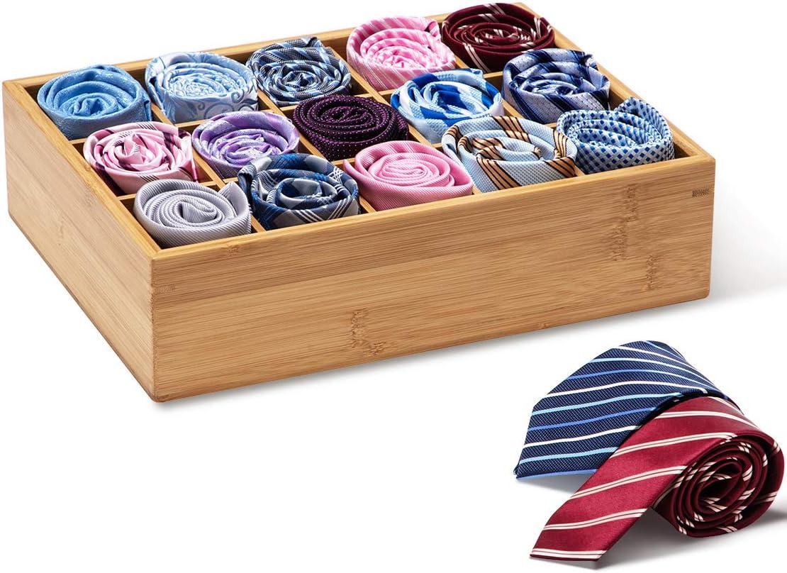Organizer und Aufbewahrung f/ür Babyschr/änke Unterw/äsche 15 St/ück GOBAM Aufbewahrungsbox f/ür Schubladen Krawatten Handt/ücher F/ächer Socken nat/ürliches Bambus