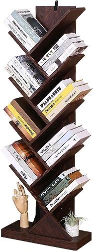 Homdox 9-Tier Tree Bookshelf